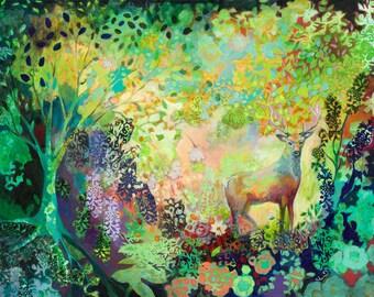 Follow Me - Modern Fine Art Wildlife Print by Jenlo