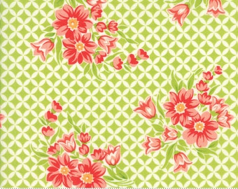 Handmade - Gwendolyn in Green: sku 55146-14 cotton quilting fabric by Bonnie and Camille for Moda Fabrics - 1 yard