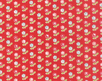 Vintage Picnic - Rosie in Red: sku 55121-11 cotton quilting fabric by Bonnie and Camille for Moda Fabrics - 1 yard