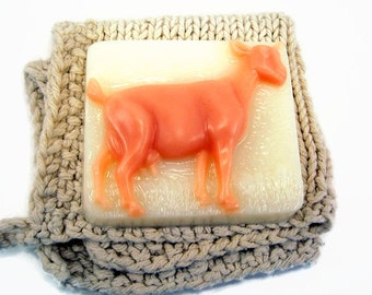 Goat Milk Soap Bar, Unscented Goat Milk Soap, Goat Shaped Soap