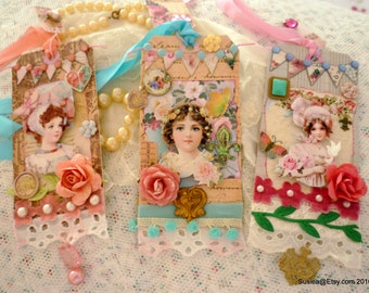 Set Of Three Little Women Journal Tags