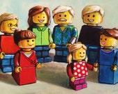 """Sale! Custom Family Toy Portrait 8""""x10"""" acrylic on canvas"""