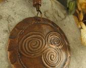 Newgrange Spiral Pendant, Irish Celtic jewelry, spiral jewelry