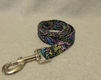 """Large Dog Leash 1"""" Wide x 4 Foot Spring Colors"""