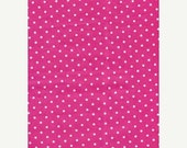 SALE Atelier Akiko by Lecien Pink White Polka Dot Dots Cotton Sateen Fabric Japanese