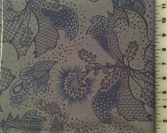 Anna Maria Horner Good Folks Blue Filigree Cotton Fabric by the Yard