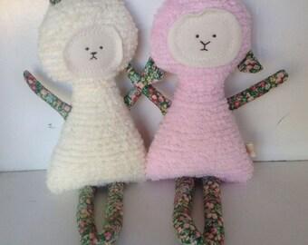 Soft Doll, Plush, Natural Eco Friendly Lamb Bunny