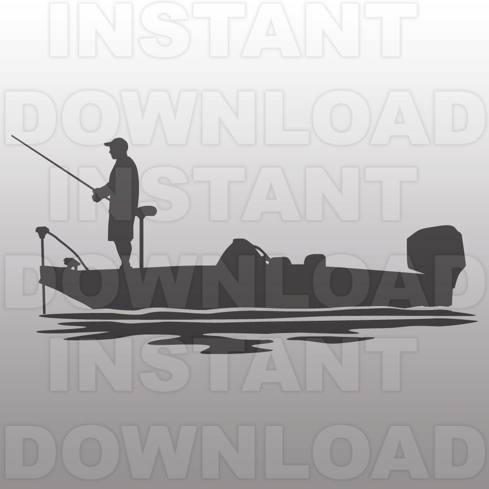 Bass boat svg file bass fishing svg file fisherman svg for Party boat fishing near me