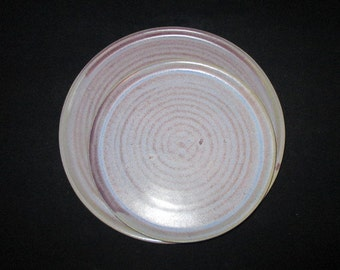 dinner and salad plate in lavender purple, stoneware pottery, food and dishwasher safe