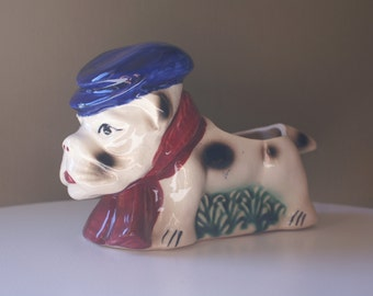 Vintage Scottie Dog Planter, Japan Ceramic