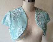 CLEARANCE IMMEDIATE SHIPPING Turquoise Blue Shrug