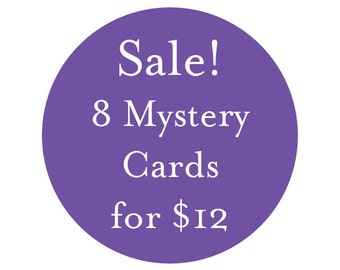 SALE! 8 Discontinued or Slightly Imperfect Mystery Cards for 12