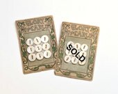 Vintage Glory Pearl buttons, carded buttons, shell buttons, vintage button destash, vintage sewing destash, morning glory