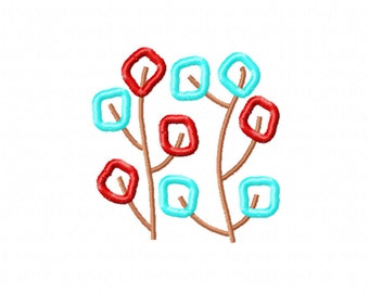 Machine Embroidery Design | Retro leaves machine embroidery | Branches | Tree embroidery design |
