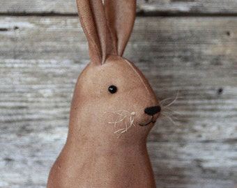 Primitive Bunny Rabbit, Vintage Style Rabbit, Easter Rabbit, Farmhouse Decor, Rabbit Decor,