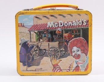 Vintage 1980s Tin Lunch Box McDonalds and Characters