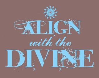 Align with the Divine, Organic Men's Crew Neck T-Shirt