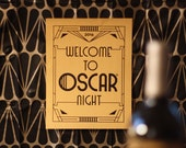 Printable Oscar Party Signs— Posters Matching My FREE Oscar Bingo Game.