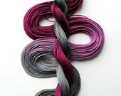 "Size 10 ""Stonehill Wine"" hand dyed thread 6 cord cordonnet tatting crochet cotton"
