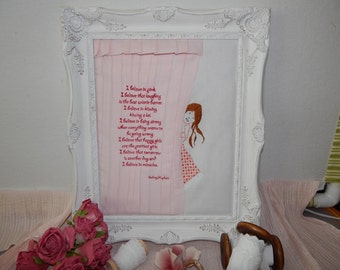 I believe, Audrey Hepburn Quote Wall Hanging