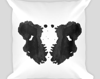 Ink blot Art Throw Pillow Rorschach Test 18x18 #3