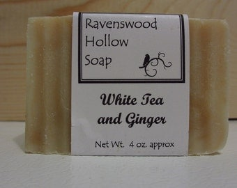 Ravenswood Hollow Handmade Soap - White Tea and Ginger scent