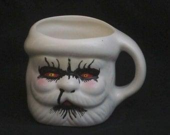 Hand-illustrated Black Metal Santa coffee mug #4