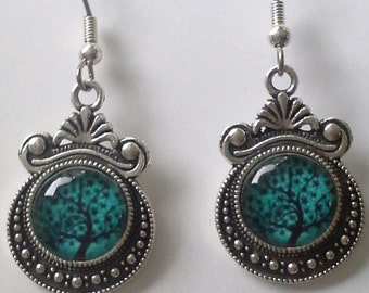 Under Glass - Tree of life earrings