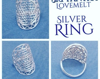 Silver Sri Yantra Ring • Sri Yantra Lovemelt Ring