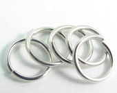 5 Sterling Open Jump Rings Handcut 16mm Diameter Large Heavy 14 Gauge Strong and secure