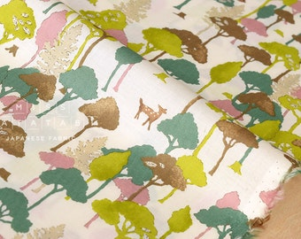 Japanese Fabric Wonder Forest 1 - cotton lawn - A - 50cm