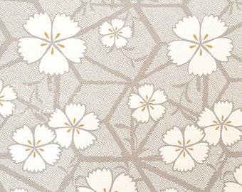 Japanese Fabric Cotton Seersucker Nadeshiko  - taupe grey - 50cm