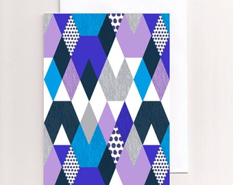 Greeting Card with geometric design blank