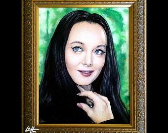 Morticia Addams - Original Drawing - The Addams Family Morticia Gomez Wednesday Classic Dark Art Comedy TV Horror Gothic Pop Art Gothic