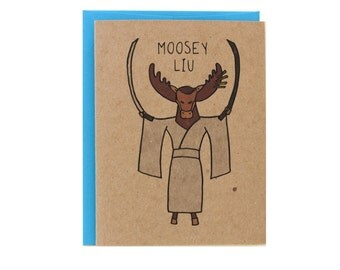 Moosey Liu Pulp Fiction greeting card