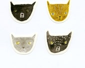 Cat stickers - set of 4