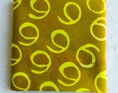 Gee hand Dyed and Patterned Fabric/ Lemon Yellow and Amber