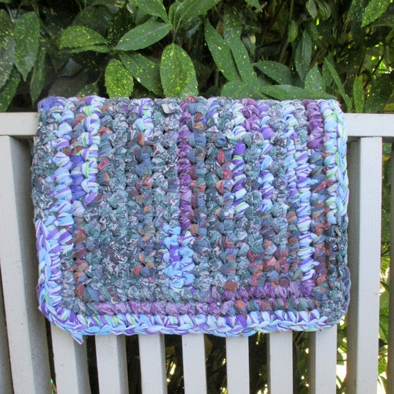 Rag Rug Throw Rug Bathroom Rug Pet Mat Small By MoonLightSally