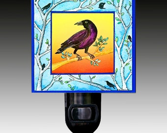 Crow Night Light
