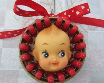 Kewpie doll - upcycled doll ornament