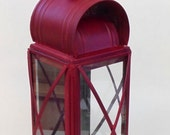 Red Colonial Candle Lantern