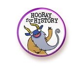 Hooray for History - round magnet
