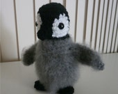 Baby Penguin amigurumi stuffed crochet toy   Fuzzy cute penguin baby