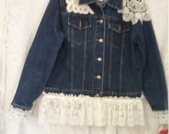 Upcycle Denim Jacket Size XL