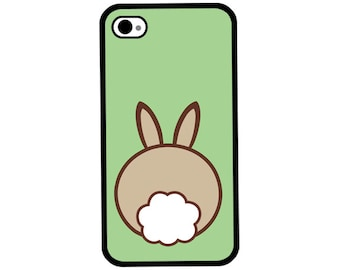 Phone Case - Bunny Butt - Hard Case for iPhone 4, 4s, 5, 5s, 5c, SE, 6, 6 Plus, 7, 7 Plus - iPod Touch 4, 5/6 - Galaxy