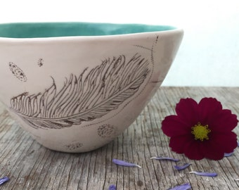 Feather Porcelain Bowl