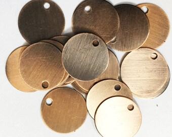 50 pcs of antique copper coin disc 15mm