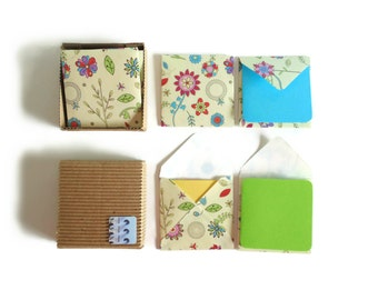 Spring Flowers Cute Stationery Set, Blank Note Gift Cards, Small Floral Square Envelopes, Spring Colorful Greeting Cards, Gifts Under 10