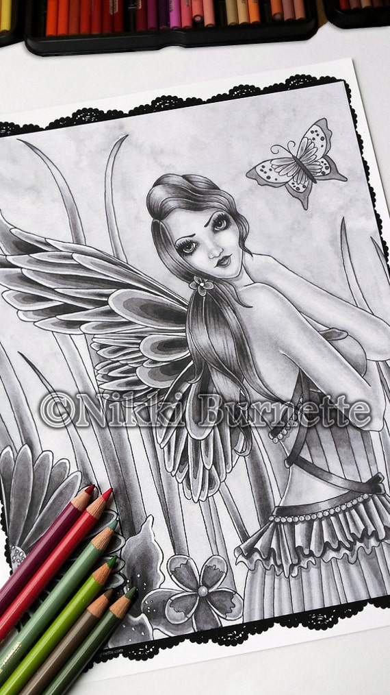 Adult Coloring Page Grayscale Coloring