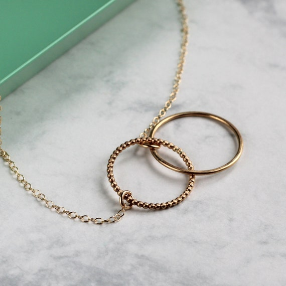 Linked Circle Necklace - Gold Fill
